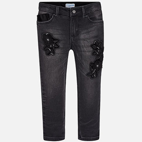 Black Embroidered Pant