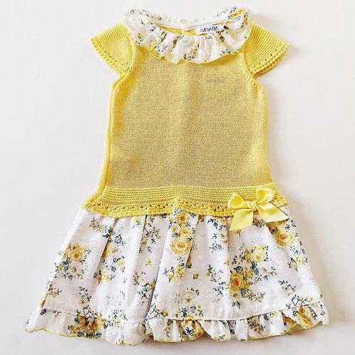 Yellow Knit Dress