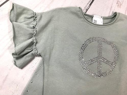 2pc Moss Peace Top w/ Capri Side Studded Pant