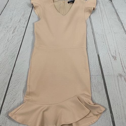 Tan Fiona Ponte Dress