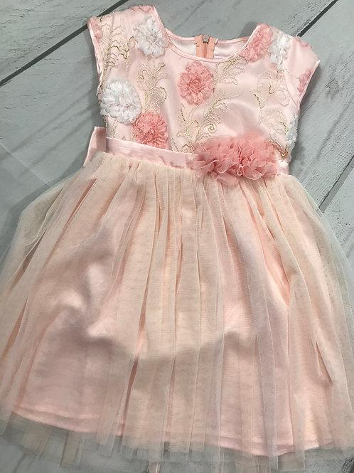 Light Pink / Peach Flower Dress