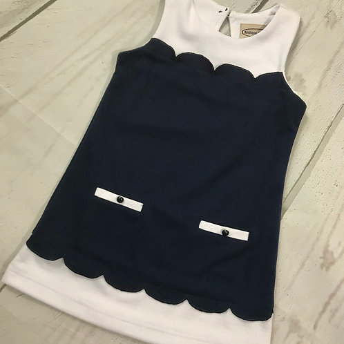 Navy / White Dress