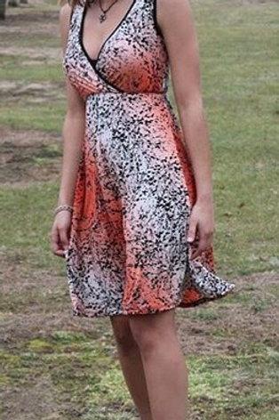 Peach Ginseng Short Wrap Dress