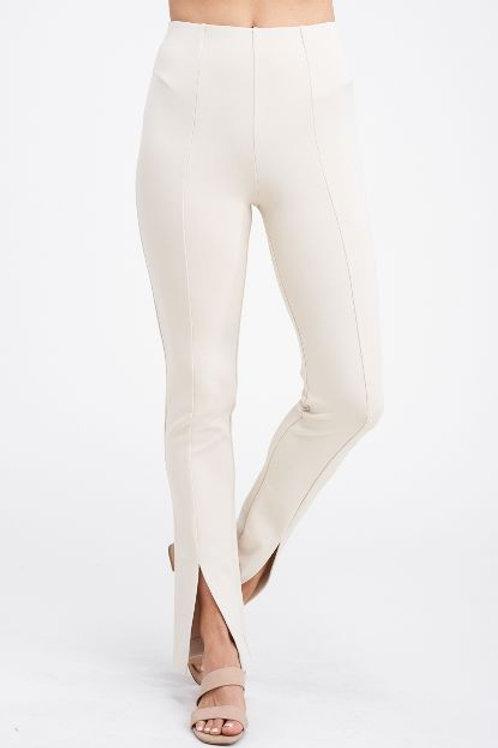 Ivory or Black Slit Pant