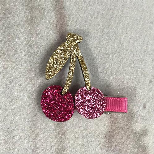Pink Cherries Clip
