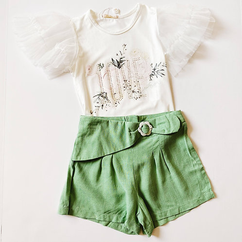 2pc LOVE Top w Shorts