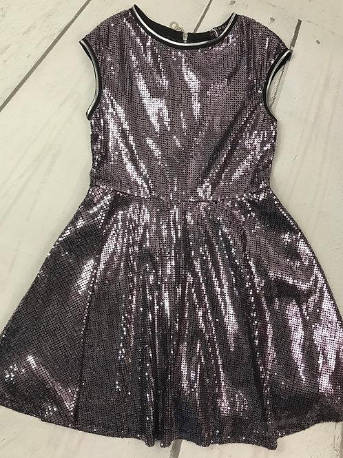 Silver / Purple Flair Dress