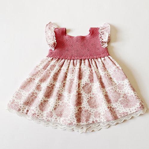 Raspberry Pink Print Dress