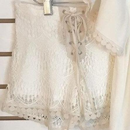 Ivory Lace Short