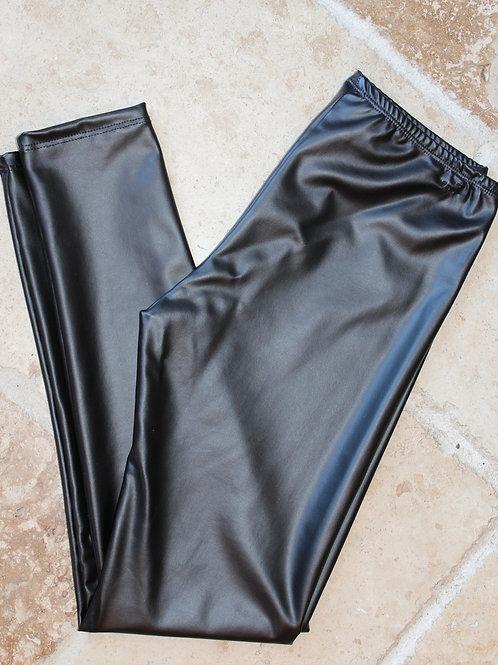 Black Pleather Legging