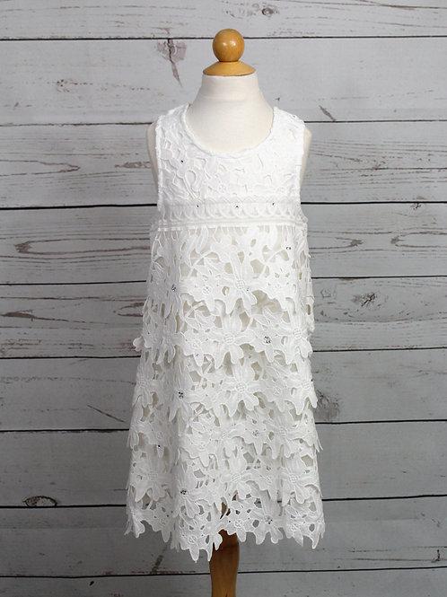 White A-line Dress