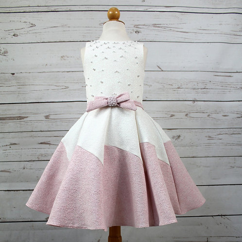 Pink Pearl & Bow Dress