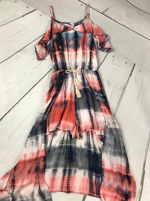 Tie Dye Cold Shoulder w/ Maxi Skirt