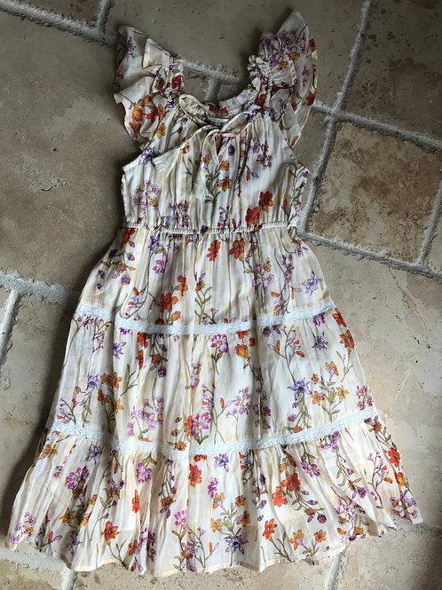 Butterfly Garden Midi Length Dress