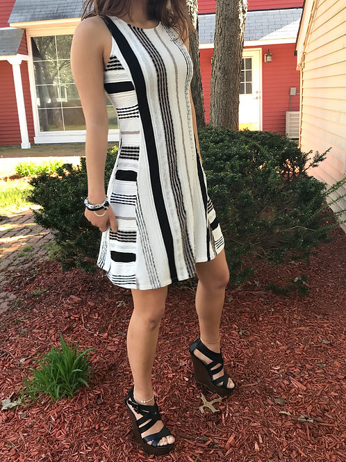 Taupe A-line Cut Out Dress