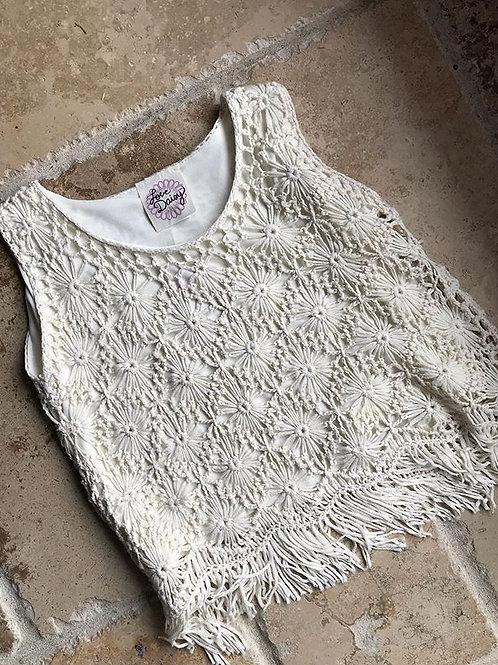 Cream Crochet Tussle Bottom