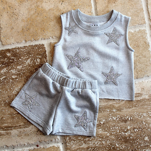 Star Sweatshirt Heather Grey