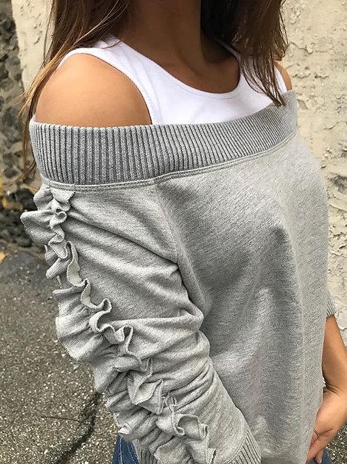 Grey LS Top