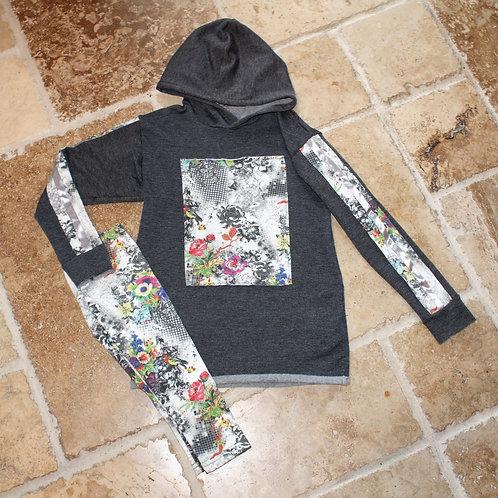 2pc Patch Sweatshirt w/Legging