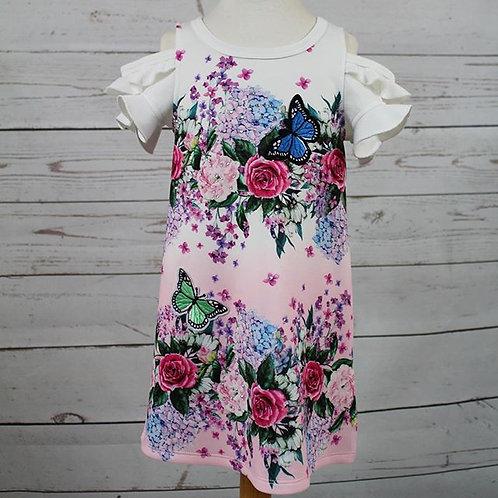 Cold Shoulder Ombre Dress