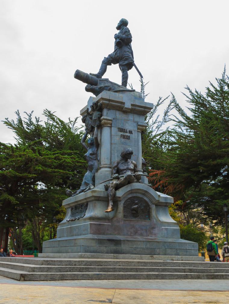 Main square in Punta Arenas