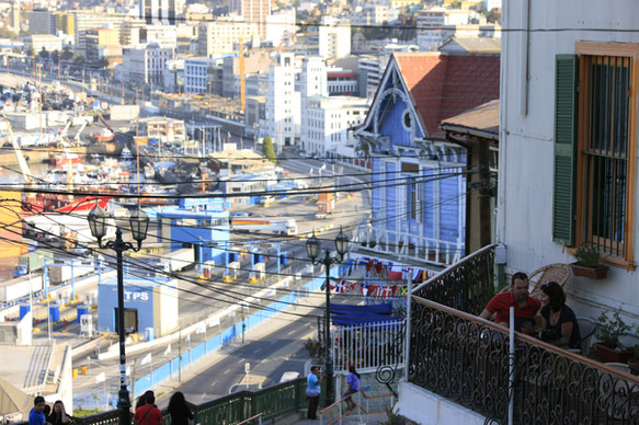 View from the hills of Valparaiso