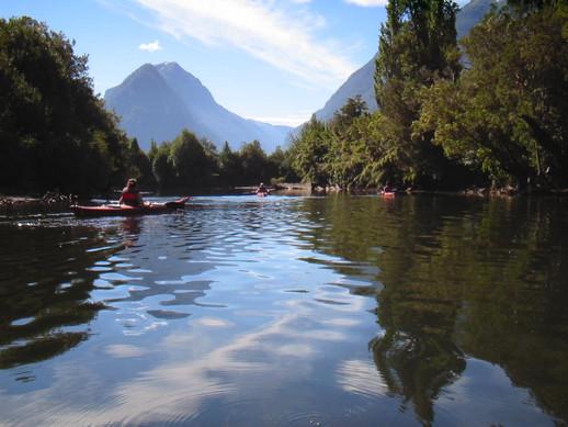 Kayaking at Lake los Palos