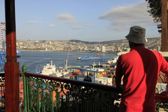 Looking at Valparaiso Bay