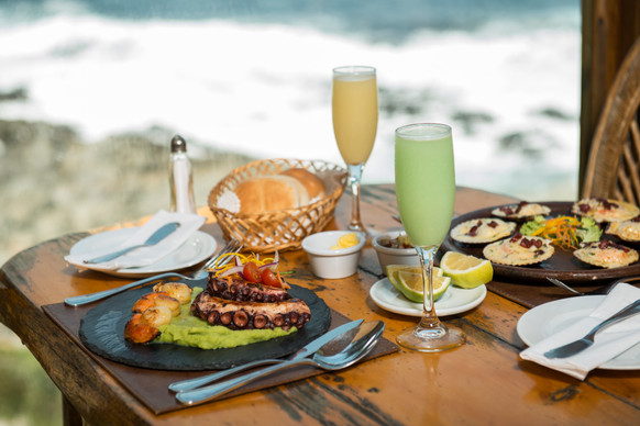 Seafood and Pisco Sour