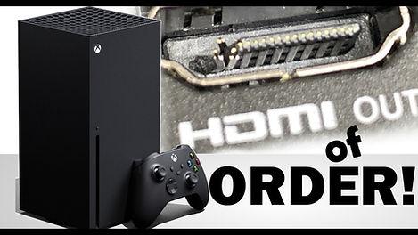 החלפת שקע HDMI ל-Xbox series x