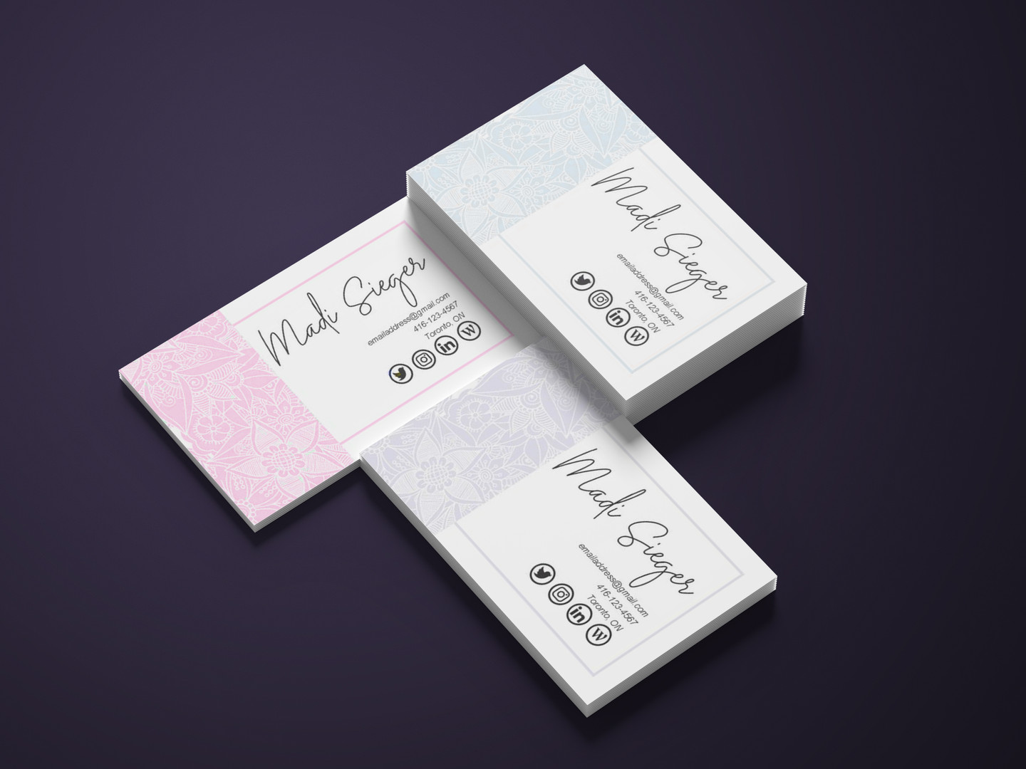 Personal Portfolio - Business Card Mockup
