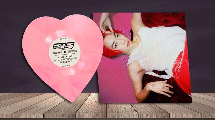 Valentine/Cherry Vinyl Mockup