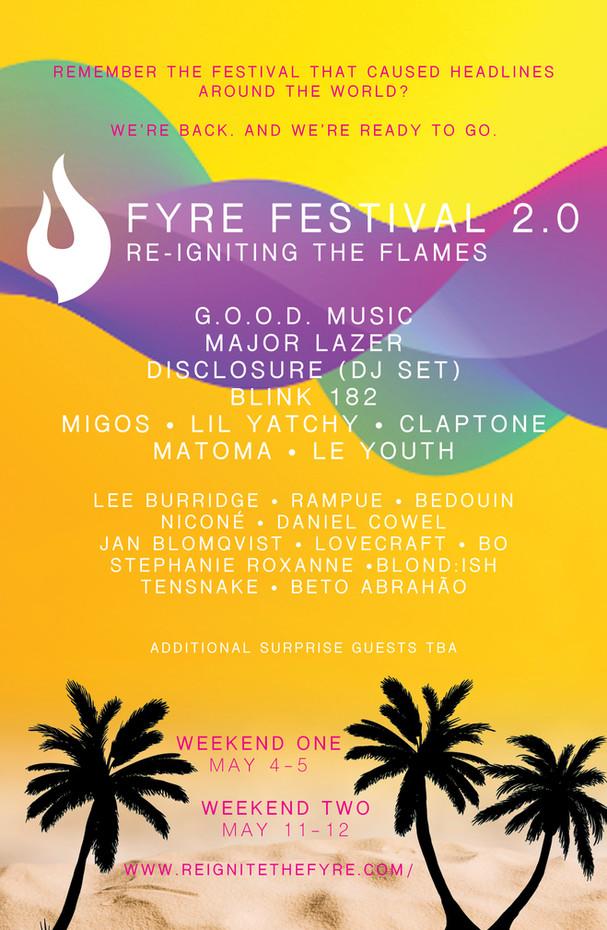 Fyre Festival 2.0 Assignment - Concept Poster