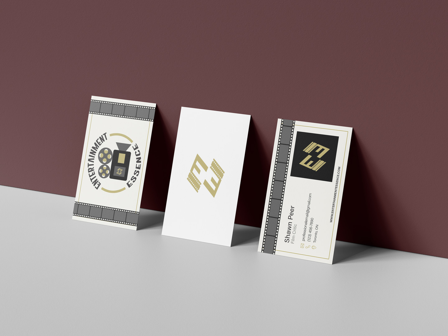 Entertainment Essence - Business Card Mockup