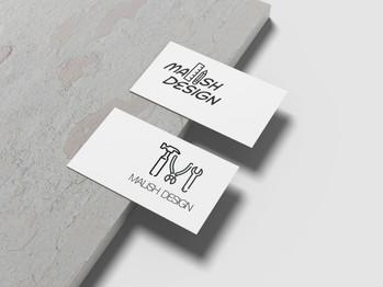 Malish Design - Business Card Mockup