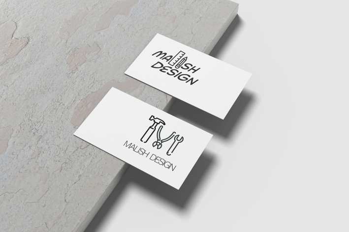 Business Card Mockup - Malish Design