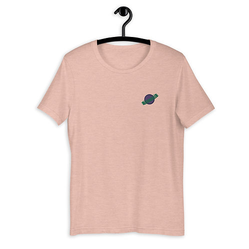 PEER PRESSURE - Planet Embroidery T-Shirt