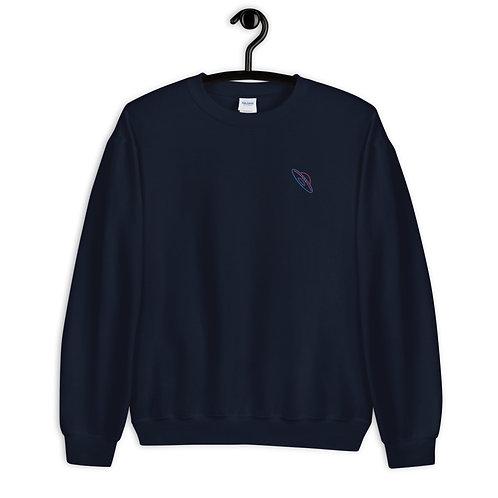 PEER PRESSURE - Spaceship Embroidery Sweater