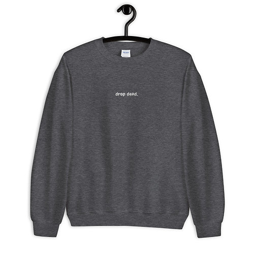 PEER PRESSURE - Drop Dead Embroidery Sweater