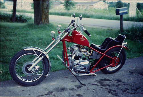 Triumph 750 5-speed motorcycle