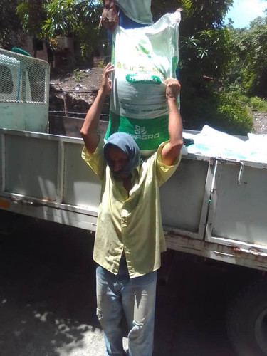 Fertilizer being received for the second