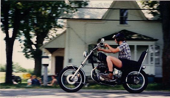 Triumph 650 Chopper motorcycle