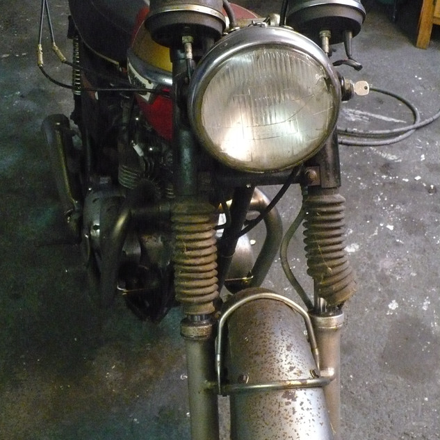 1973 Triumph Bonneville motorcycle befor