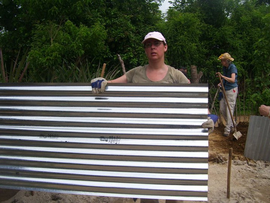 Galvanized steel for the roof