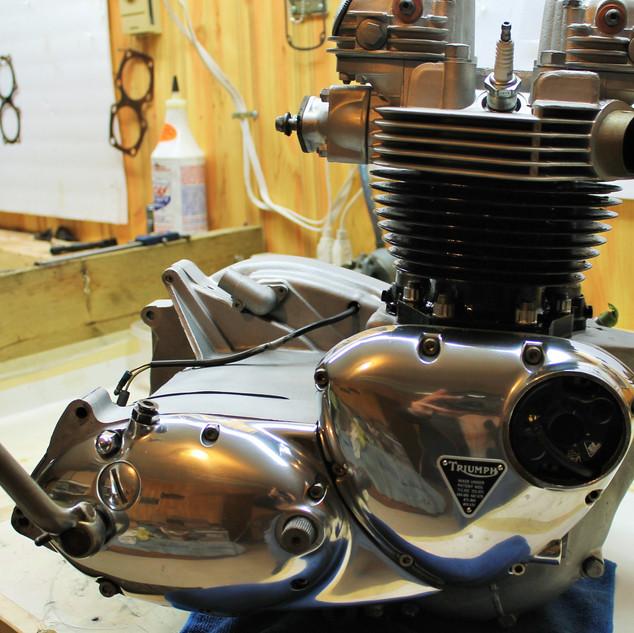 1969 Triumph Trophy TR6P rebuild