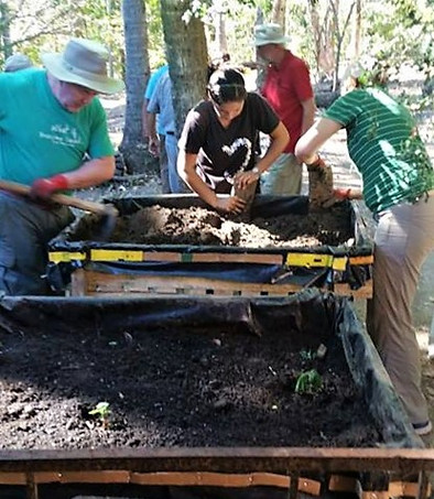 Building the Raised Garden Beds