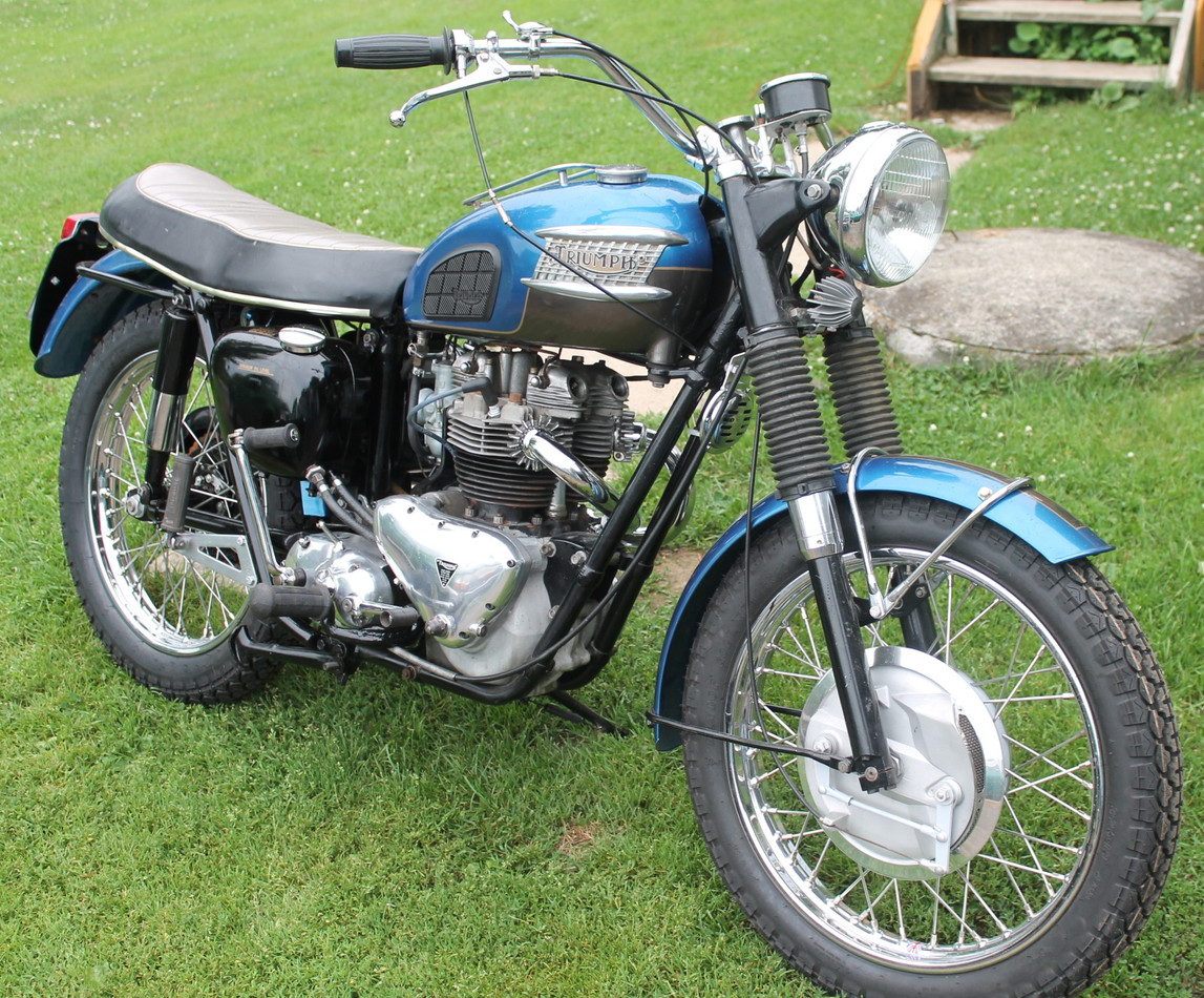 1960 Triumph Trophy TR6 motorcycle
