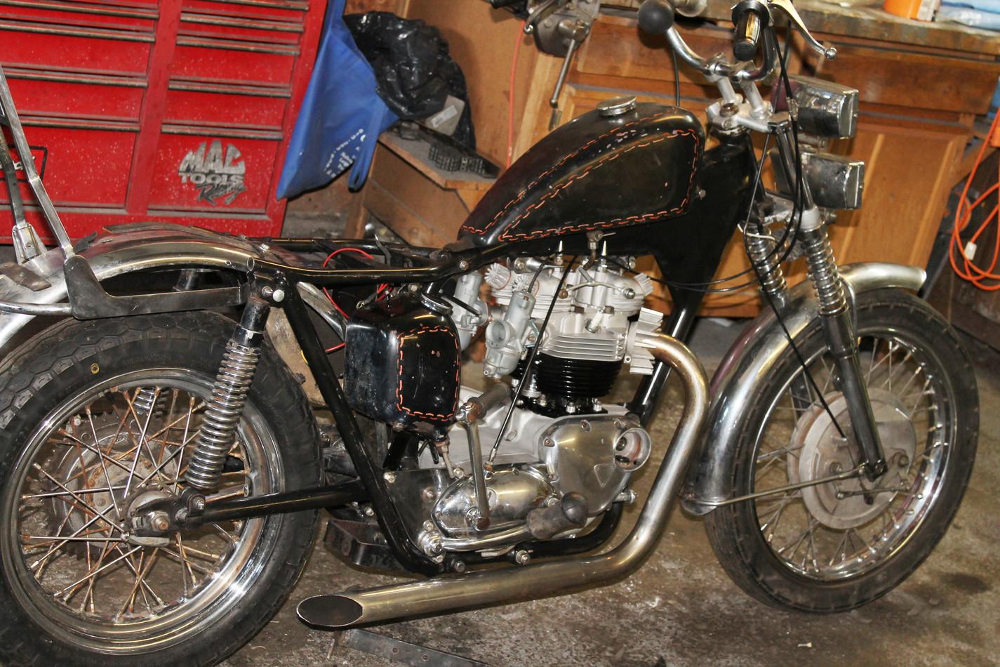 1960s 650 Triumph TR6R motorcycle