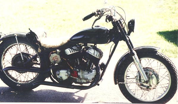 Harley Davidson 750 Flathead motorcycle