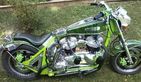Double Engine Triumph motorcycle